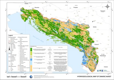 Hydrogeological map of the Dinaric Karst