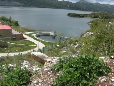 Bolje sestre intake at Skadar Lake shoreline